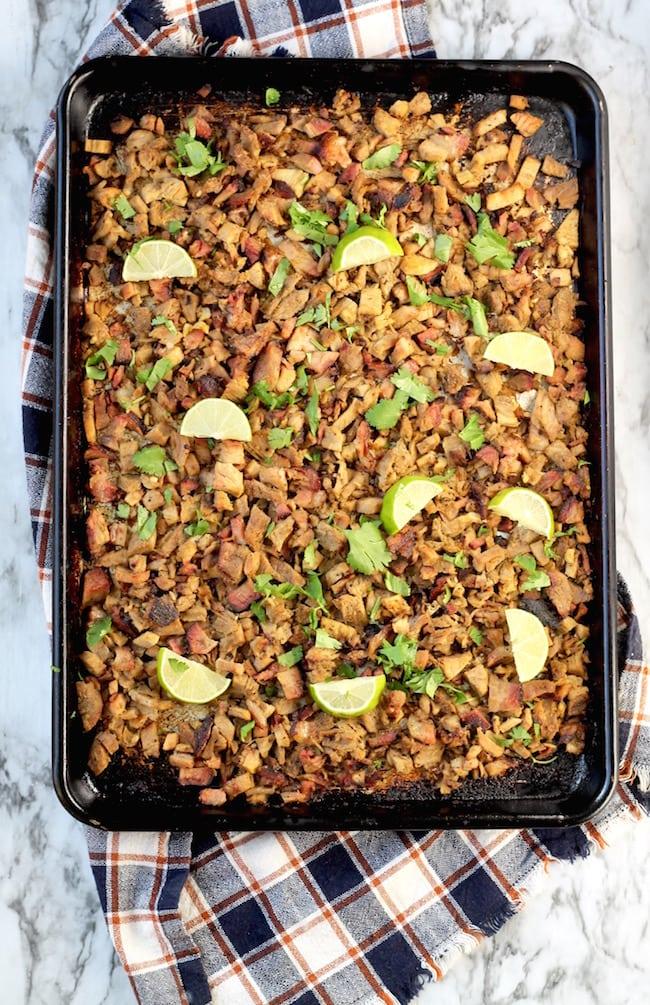 Smoked Pork Carnitas Recipe with lime and cilantro
