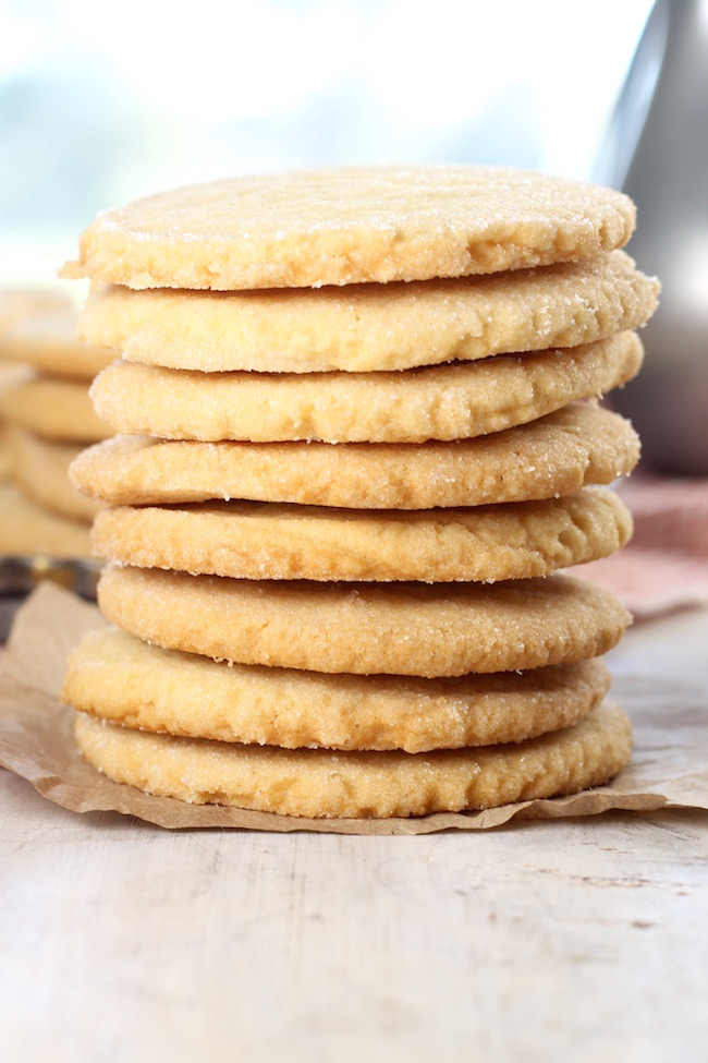 Stack of the Best Ever Sugar Cookies