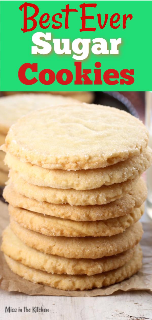 Best Ever Sugar Cookies stack to bake and share