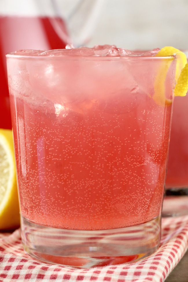 Cosmopolitan Party Punch Cocktail with cranberry juice