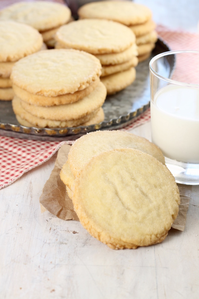 Best Ever Sugar Cookies on a tray