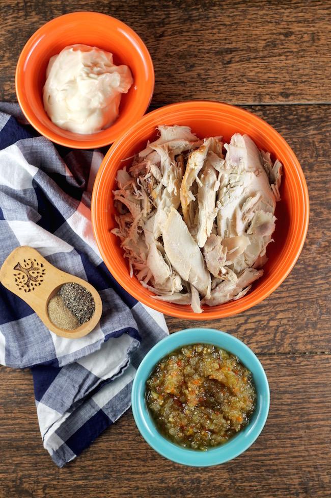 Ingredients for turkey salad