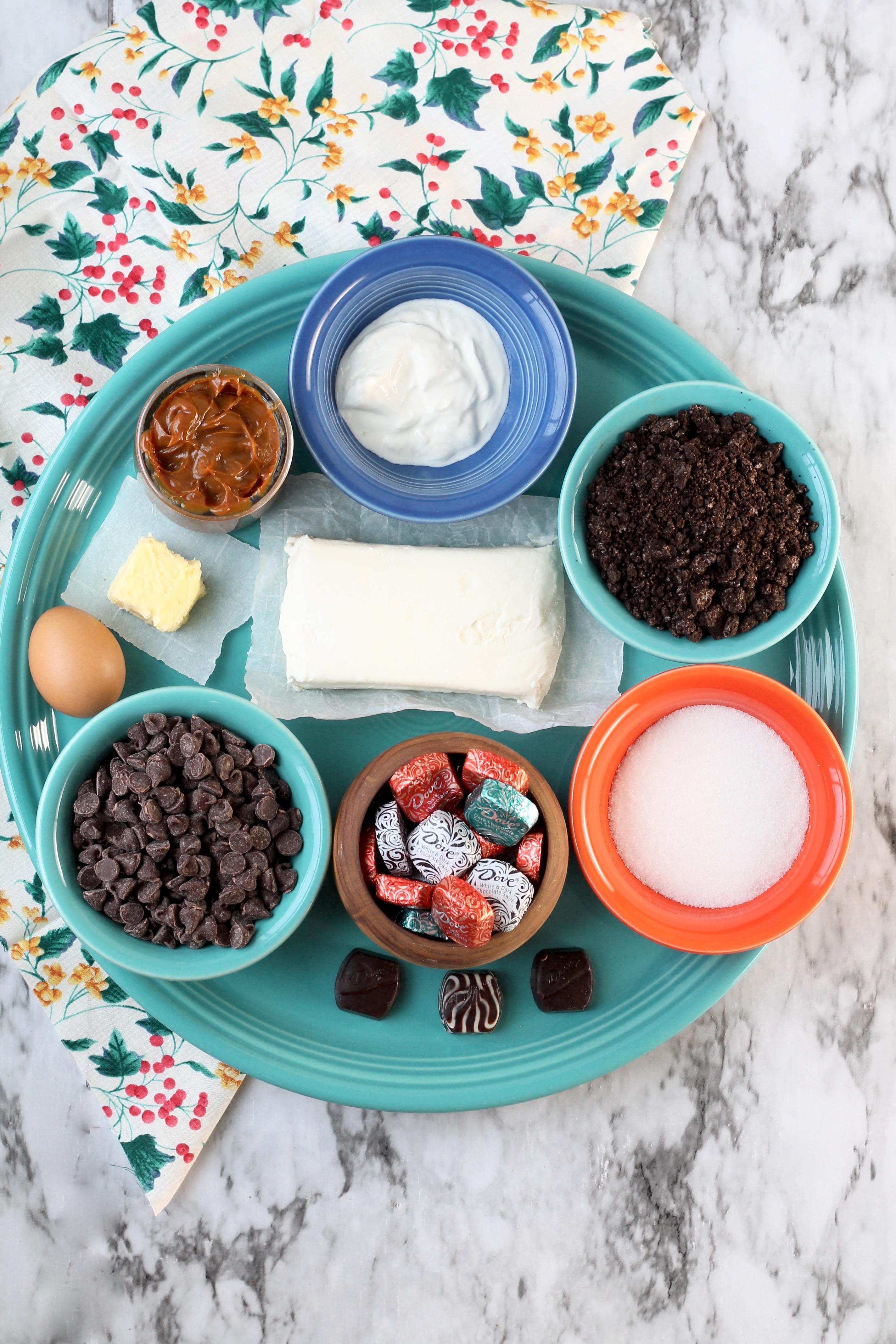 Ingredients for Mini Dove Cheesecakes