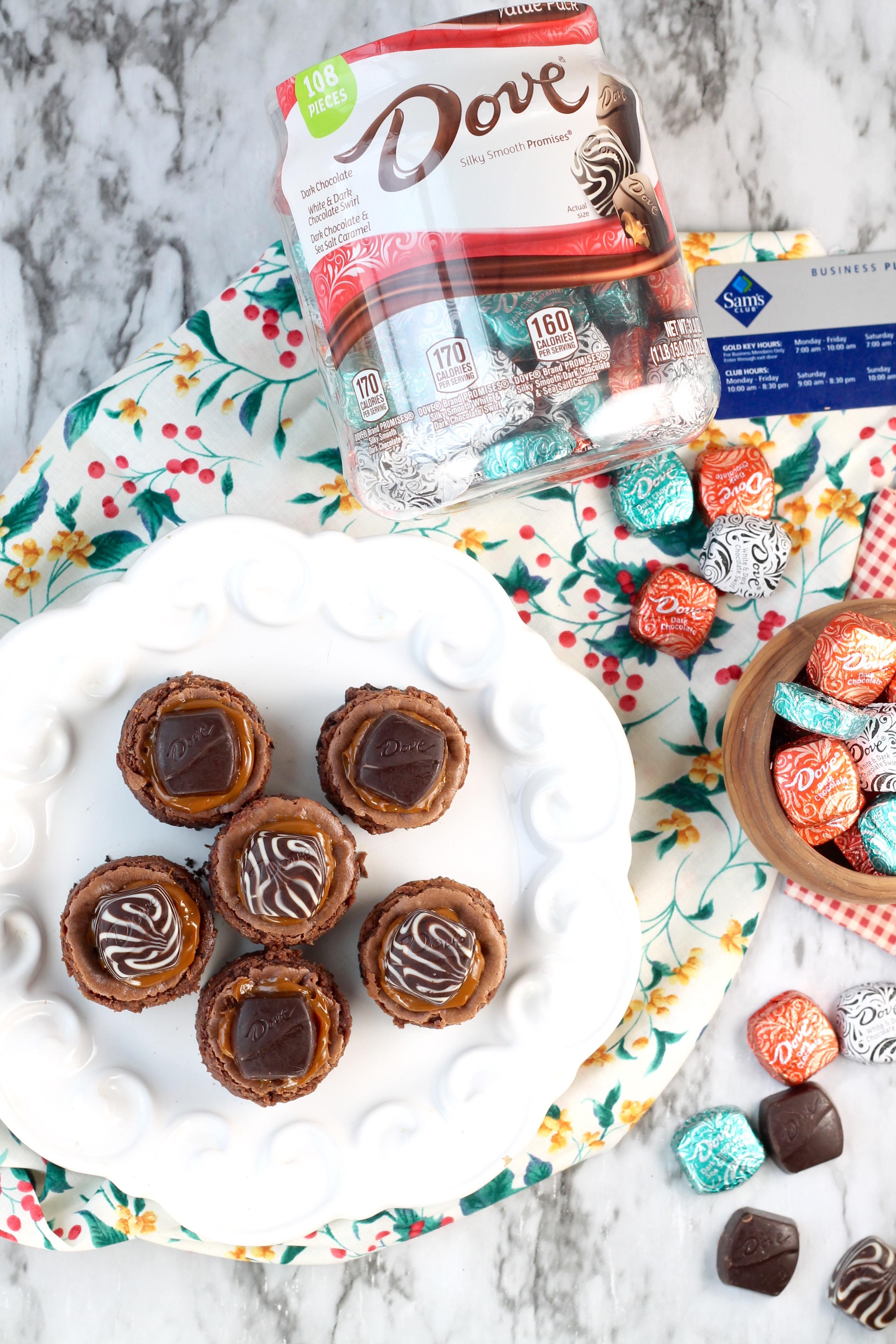 Dove Mini Cheesecakes with Dove Chocolates & Sam's Club