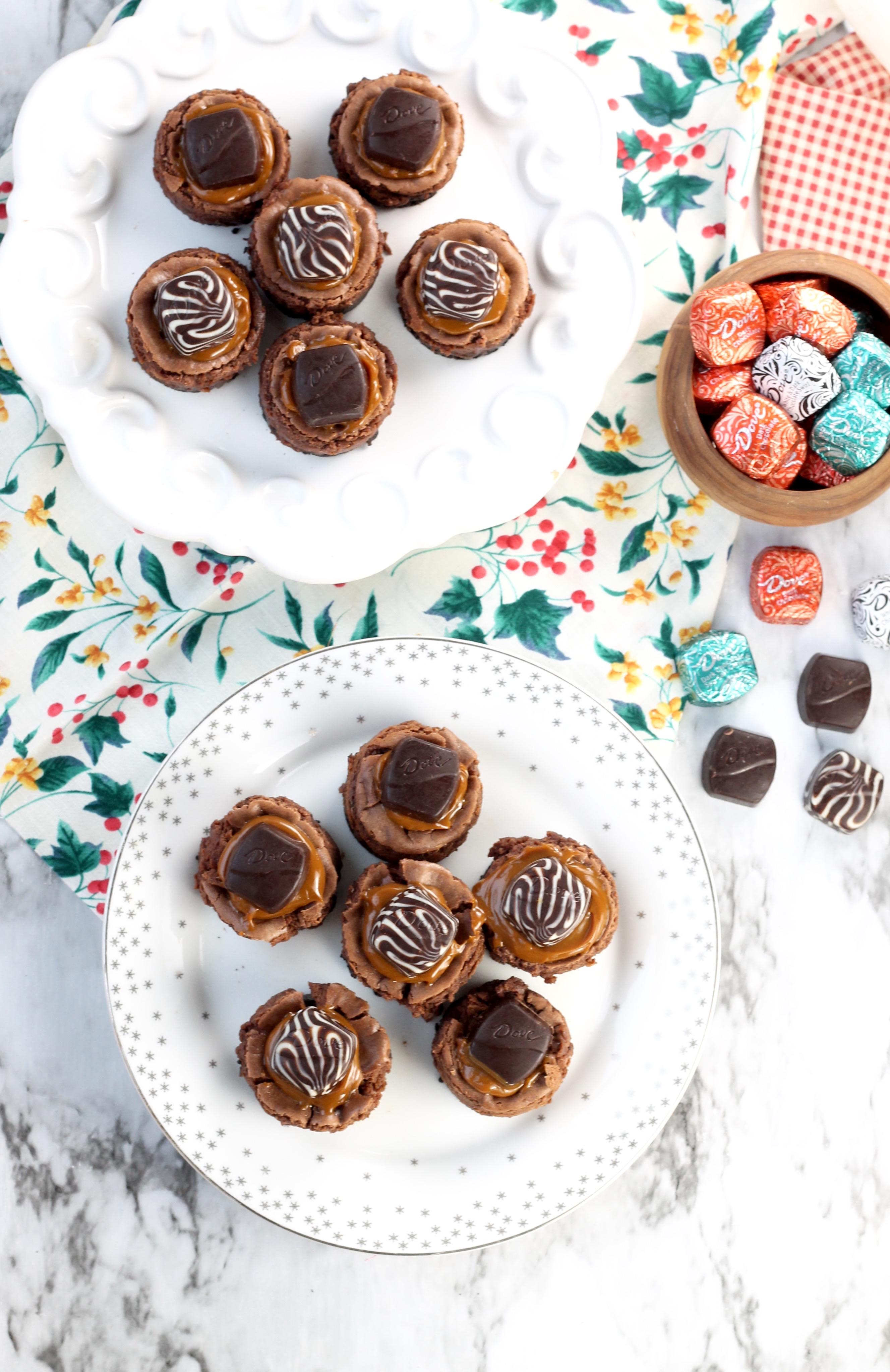 Mini Dove Cheesecakes with Dove Promise Chocolates