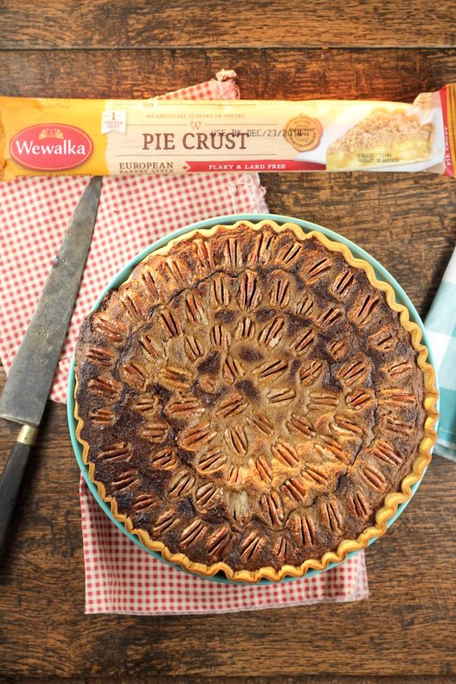 Pumpkin Pecan Pie made with Wewalka Pie Crust
