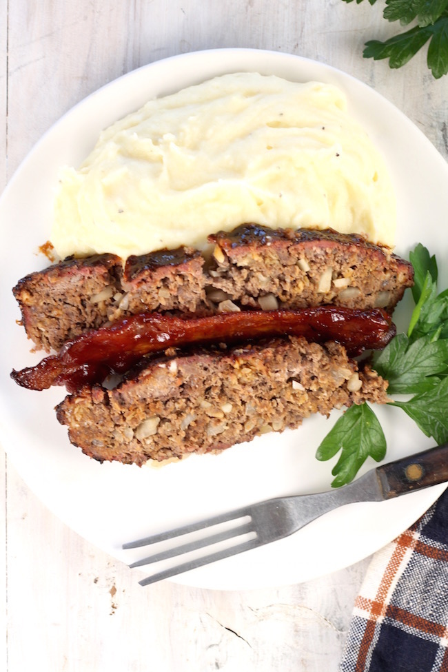 Smoked Meatloaf Recipe with mashed potatoes