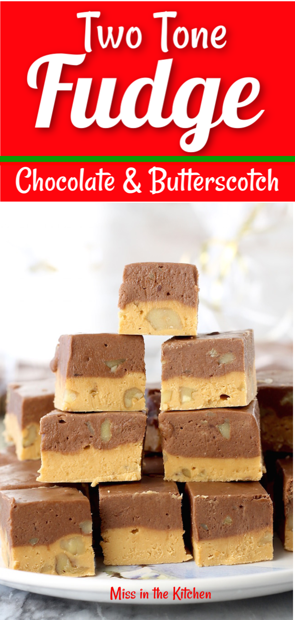 Easy Two Tone Fudge
