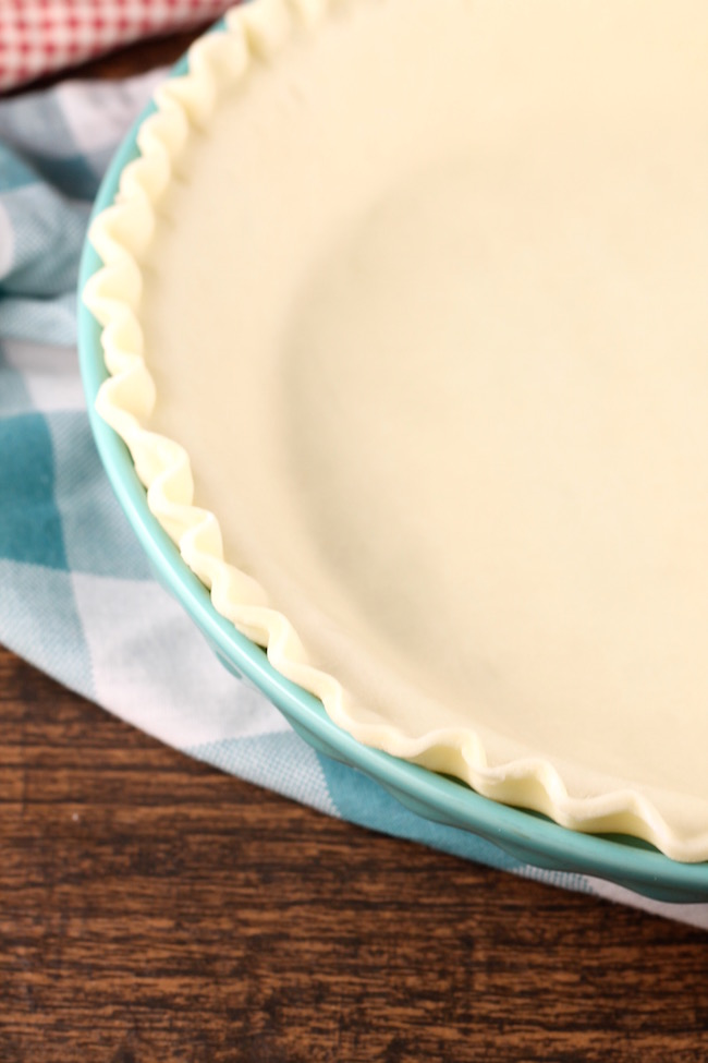 Wewalka Pie Crust ready for filling