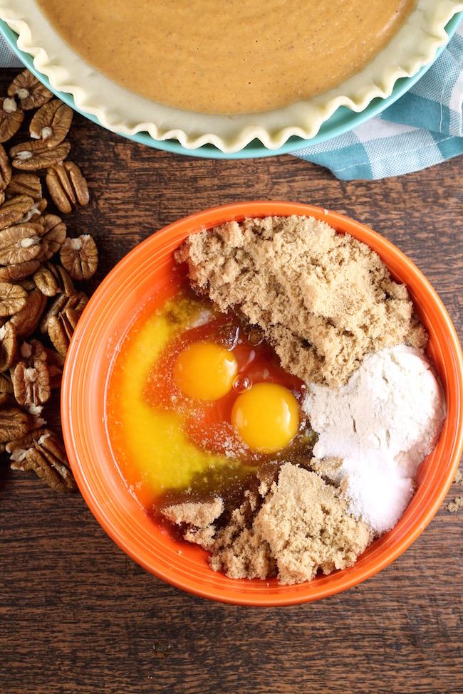 Brown Sugar Topping for Pumpkin Pecan Pie