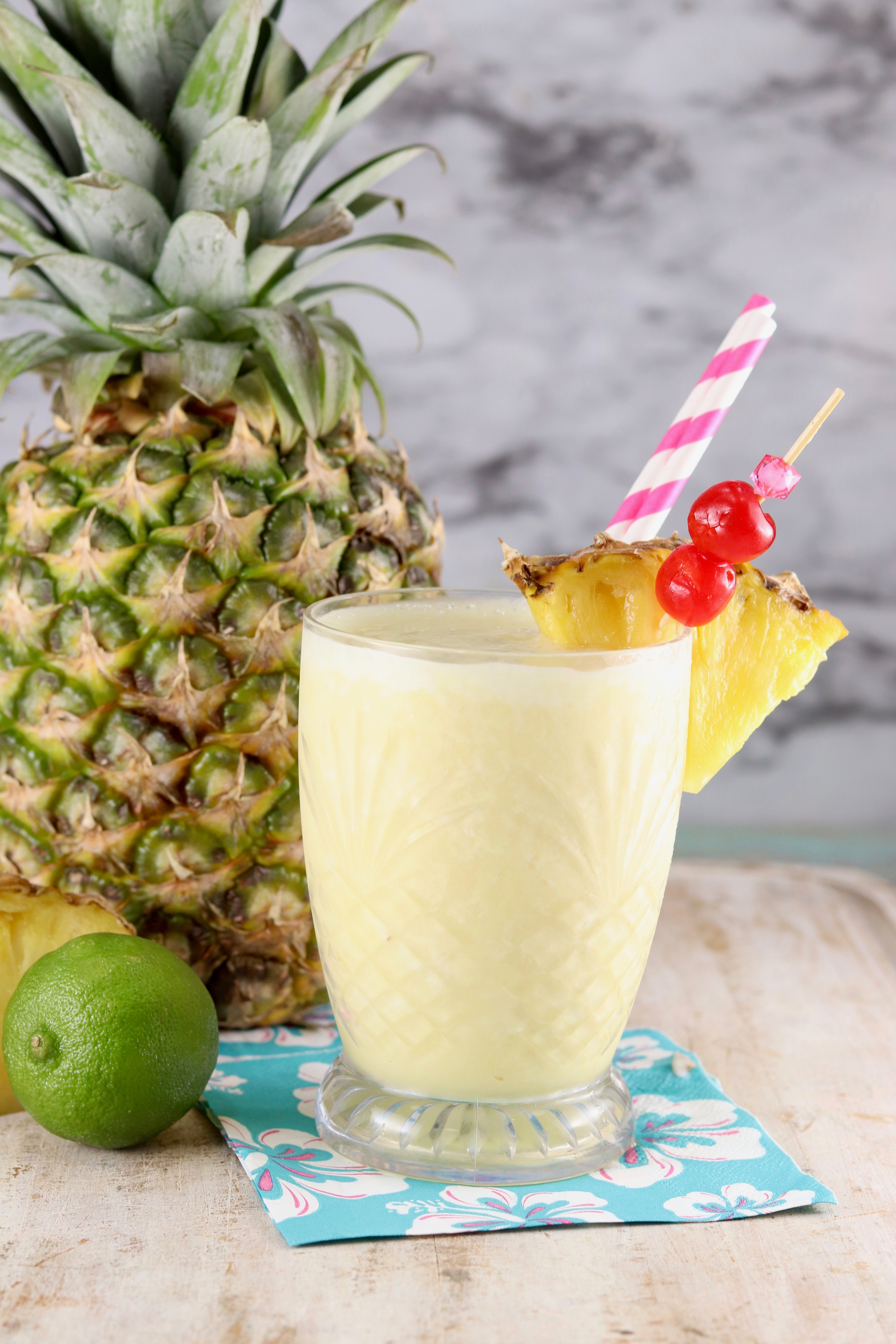 Pina Colada Mocktail Frozen Drink Miss In The Kitchen