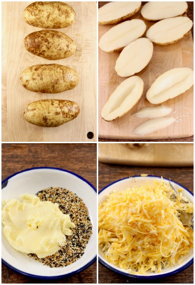 Step by step photos how to grill potatoes